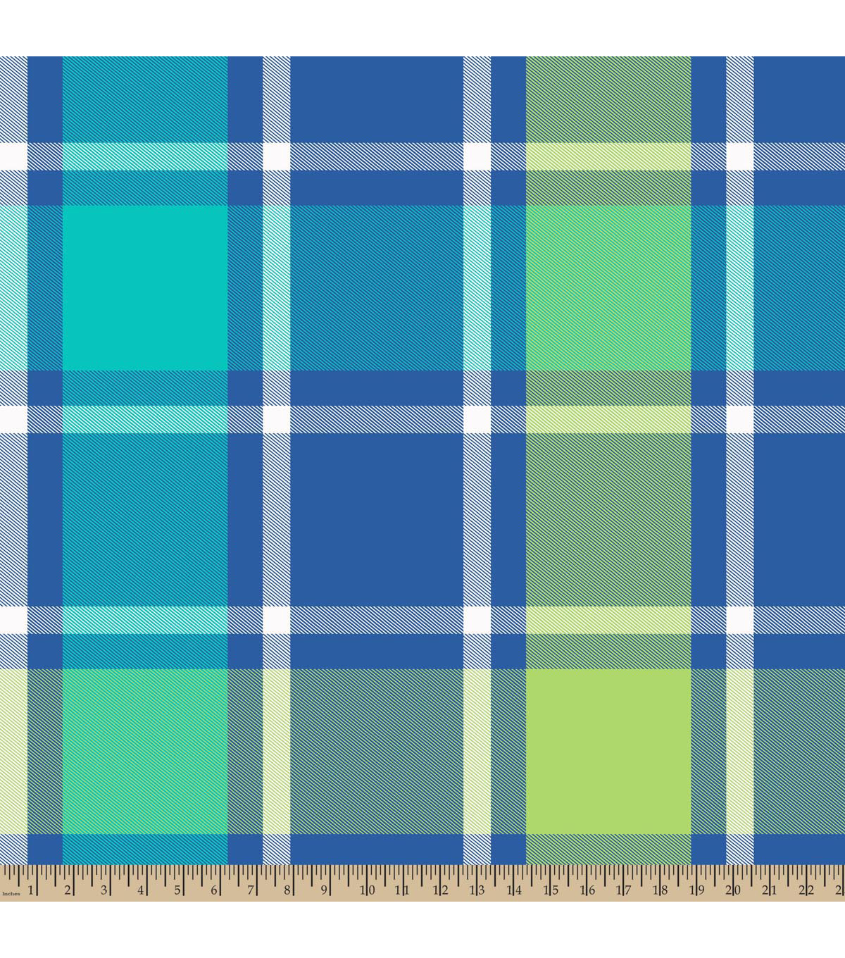 Blizzard Fleece Fabric -Bruno Plaid Green