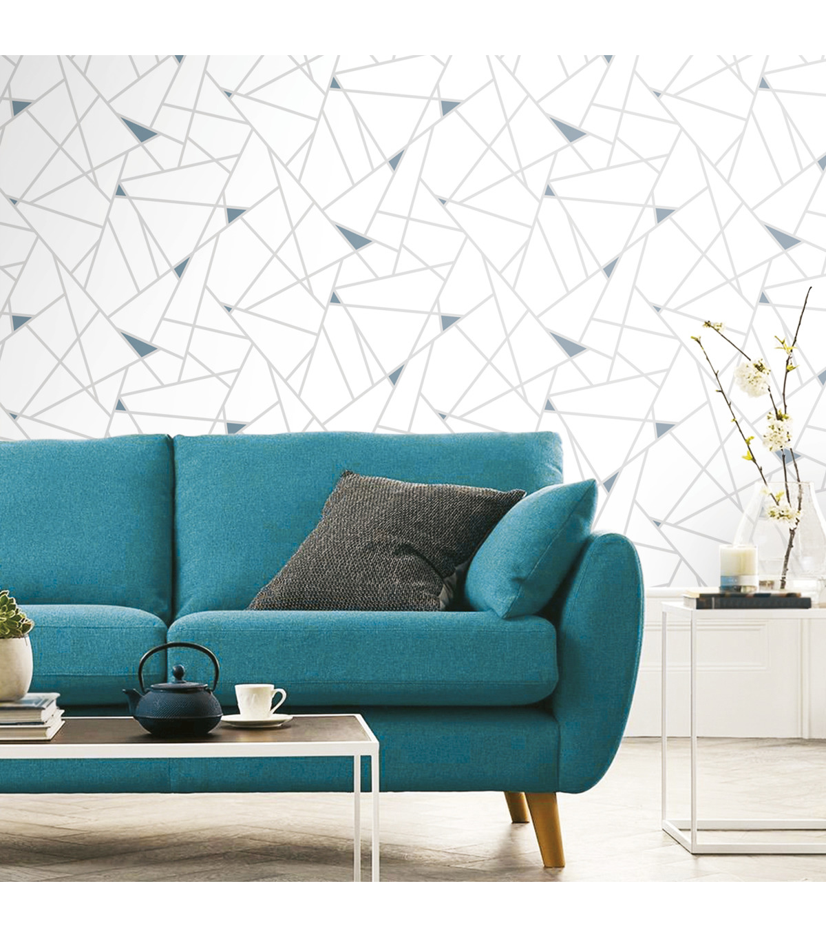 York Wallcoverings Wallpaper-Teal Fracture