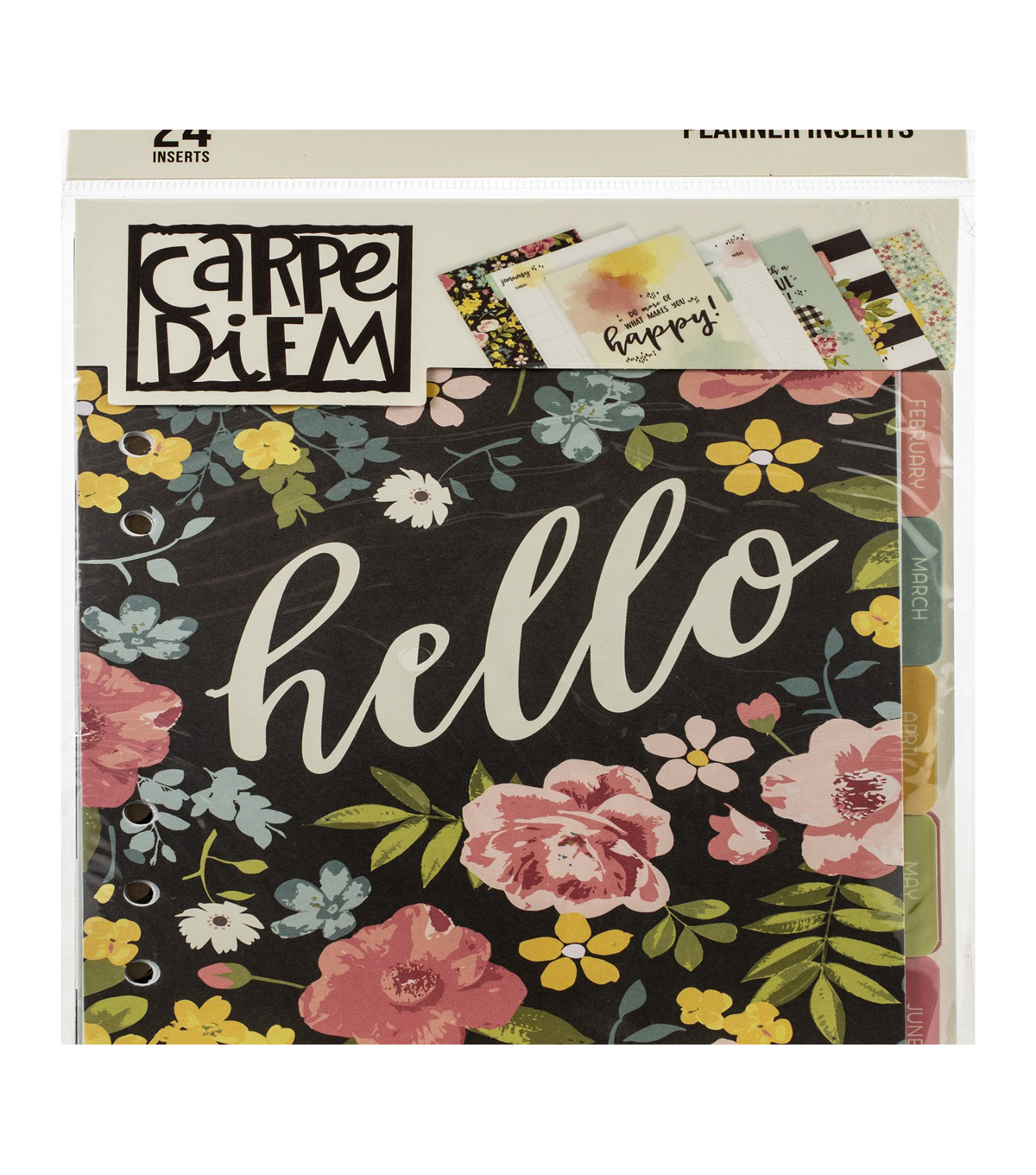 Simple Stories Carpe Diem 24 pk A5 Double-sided Planner Inserts-Hello