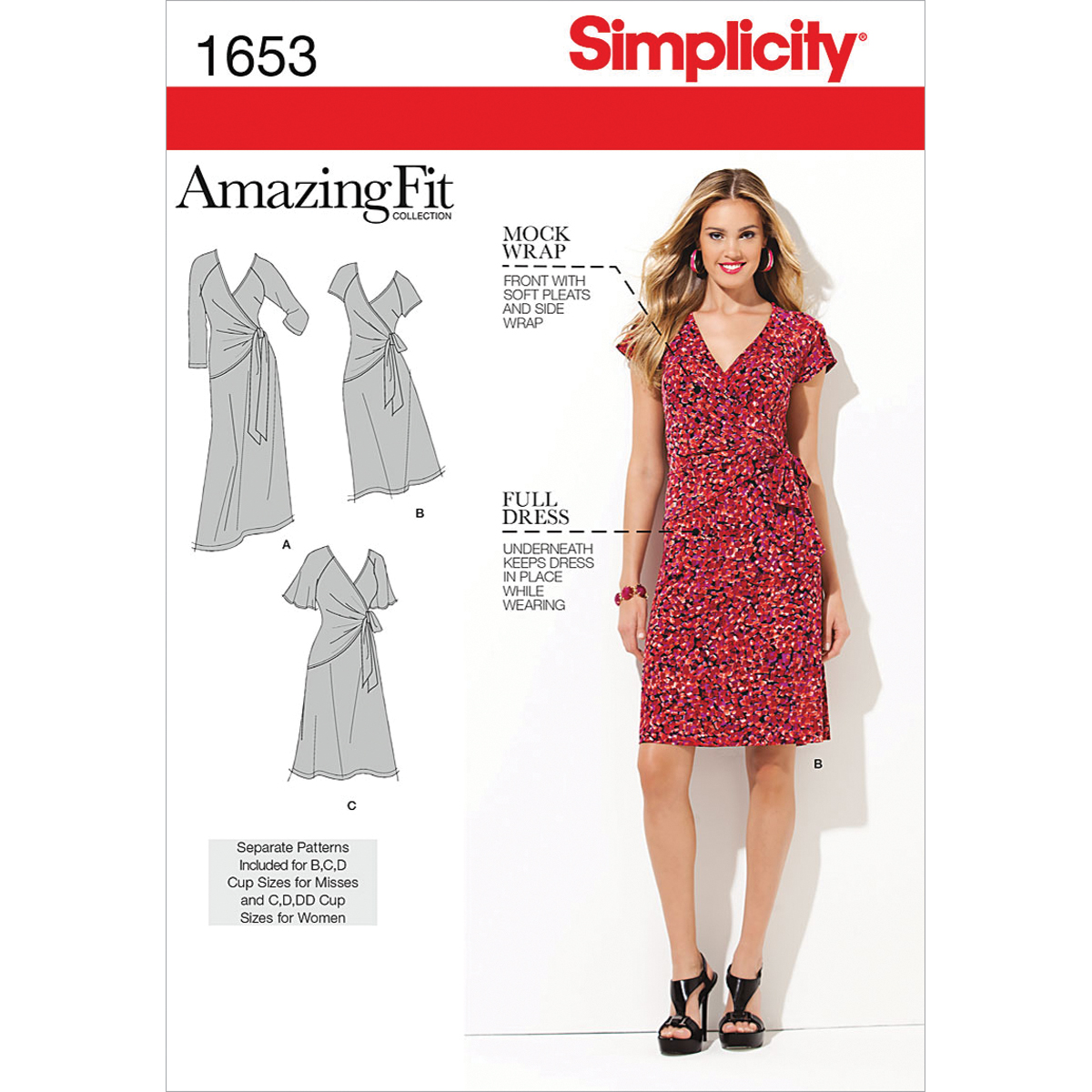 Simplicity Pattern 1653BB 20W-28W -Simplicity Misses Dr