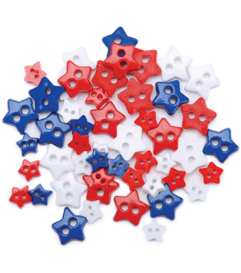 Favorite Findings Mini Shaped Buttons-Traditional Stars 49/pkg