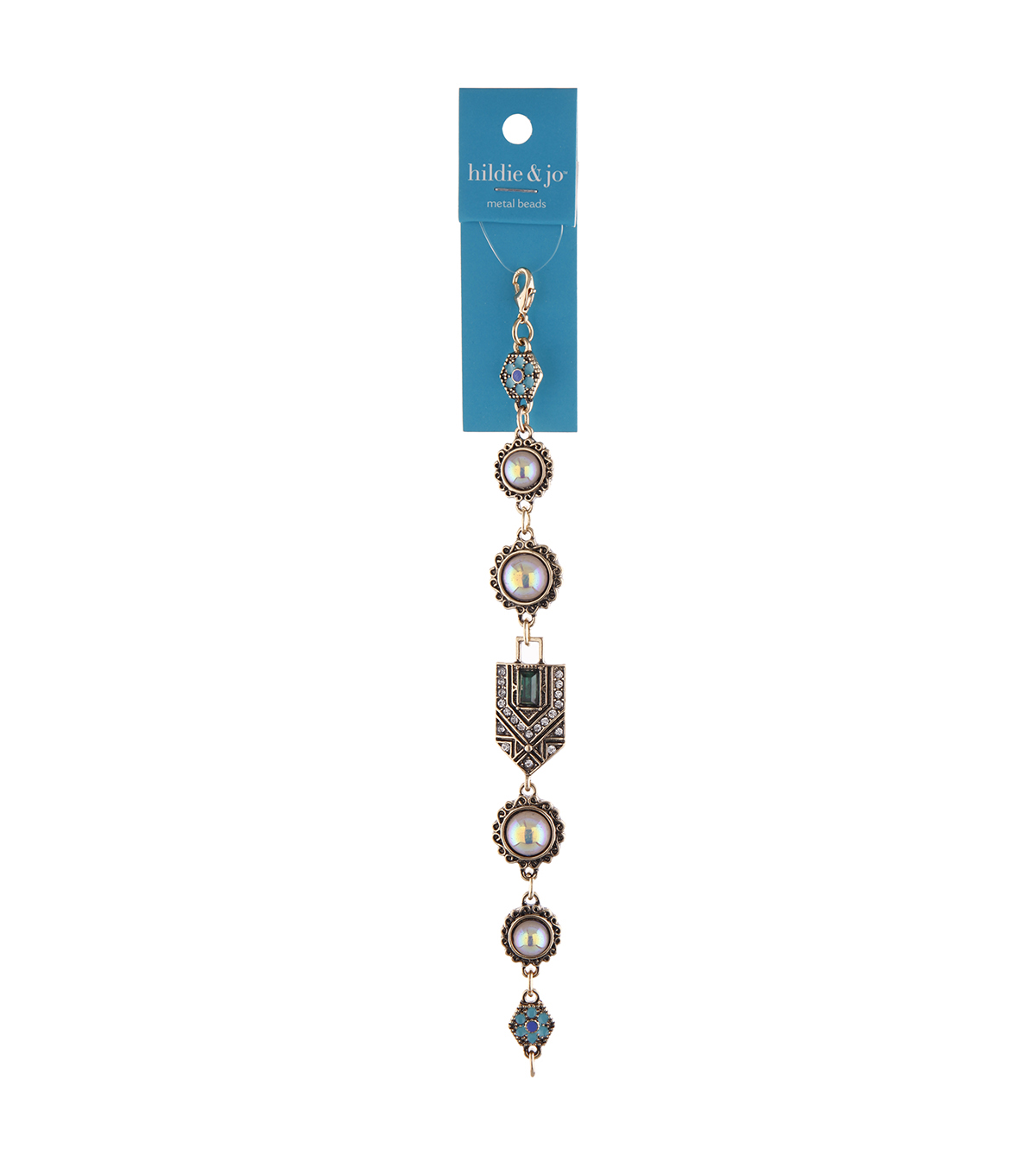 hildie & jo 6.7\u0027\u0027 Antique Metal Strung Beads