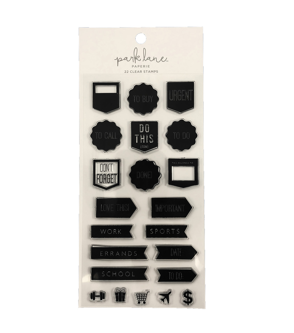 Park Lane Paperie 22 pk Clear Stamps-Planner Flag Labels