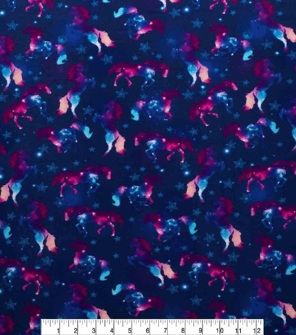 Super Snuggle Flannel Fabric-Magic Unicorns in Space