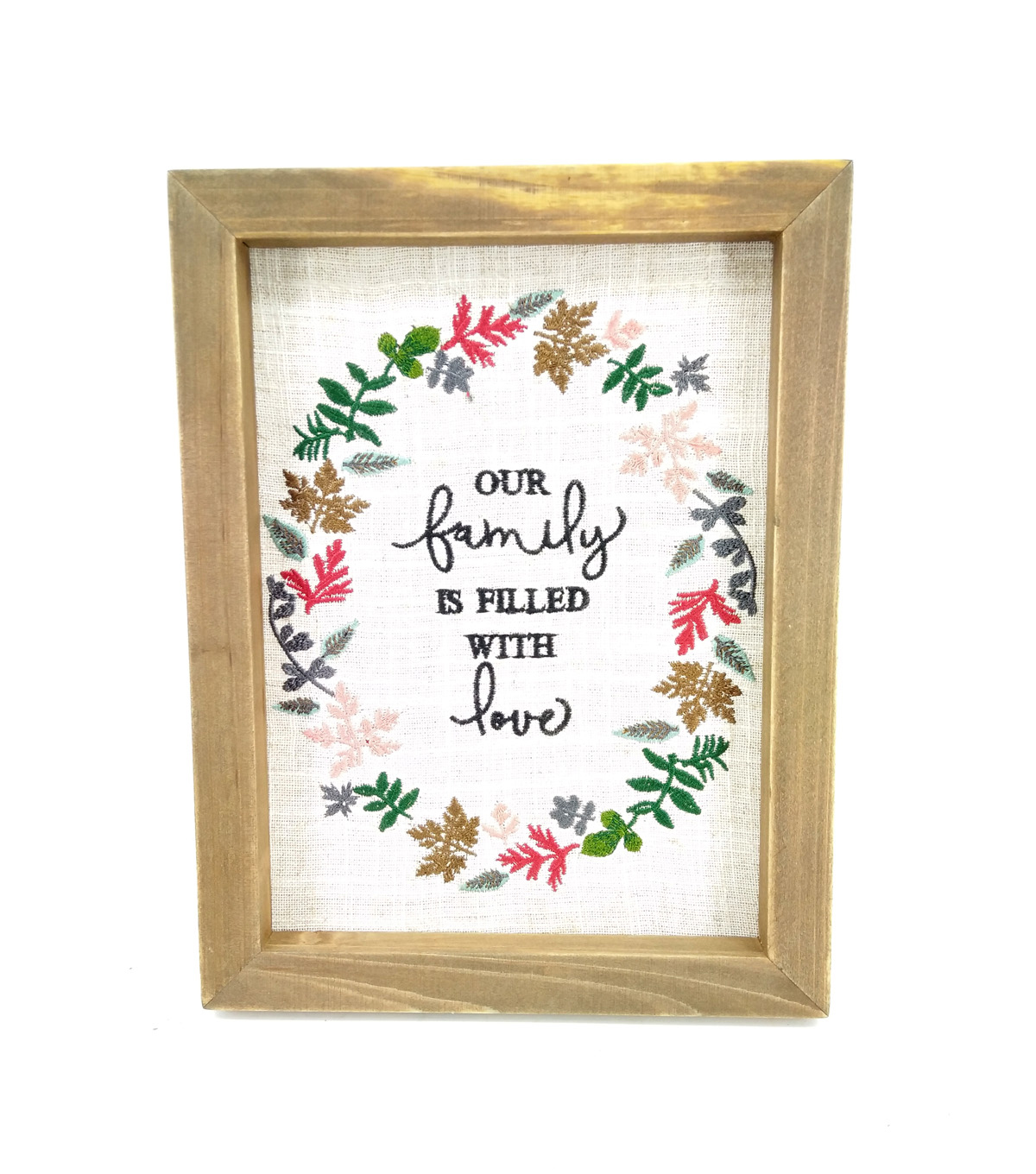 Simply Spring Small Embroidery Wall Decor-Our Family is Filled with Love