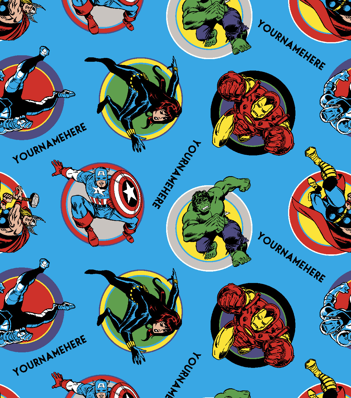 Marvel Avengers Print Fabric by Springs Creative-Retro Comics