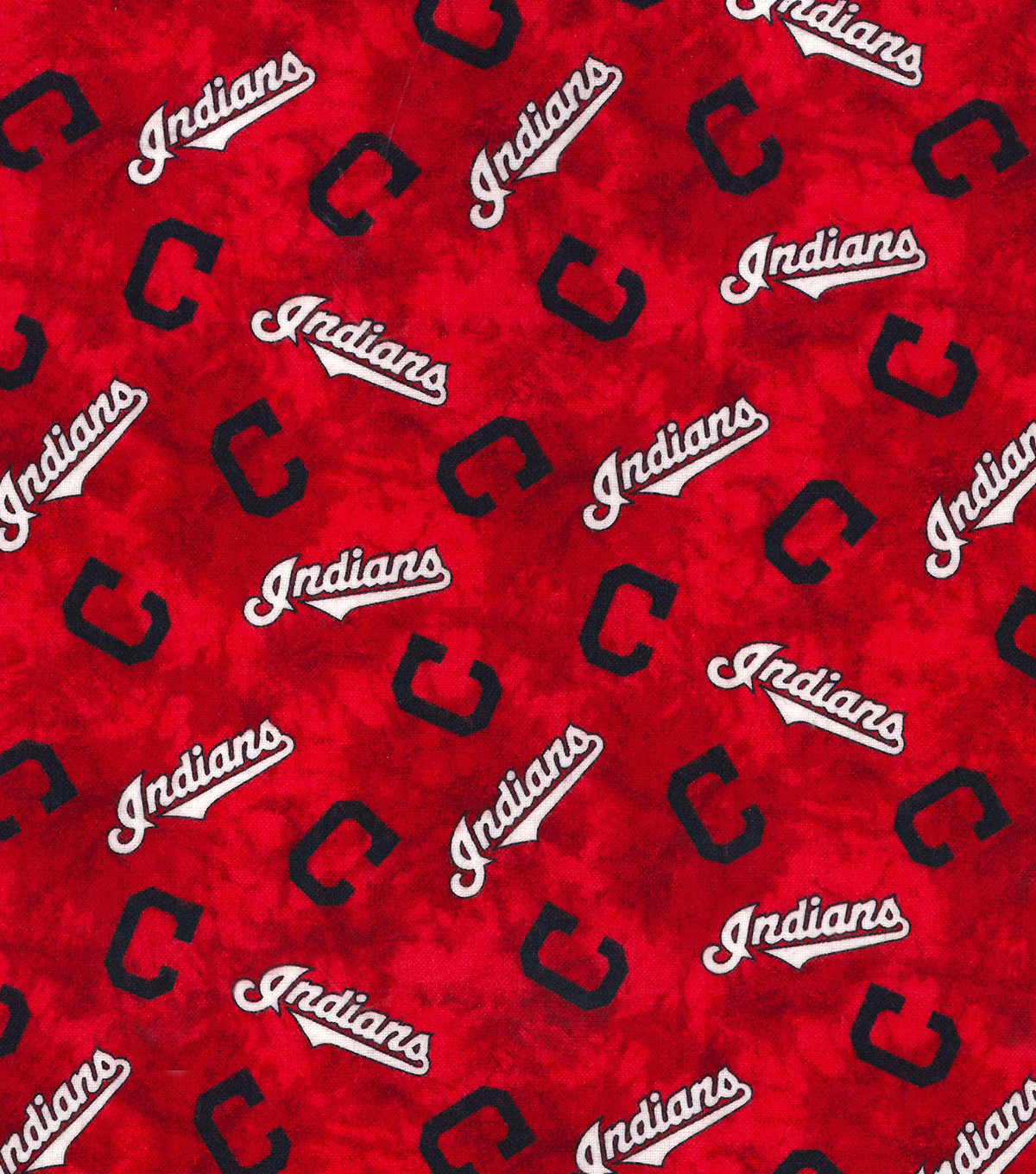 Cleveland Indians Flannel Fabric 42\u0022-Tie Dye