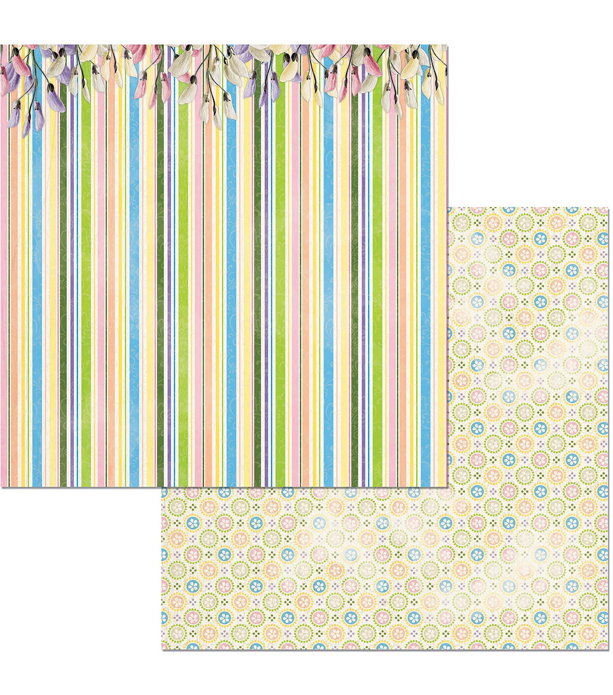 BoBunny Cottontail 25 pk 12\u0027\u0027x12\u0027\u0027 Double-Sided Cardstock-Happy