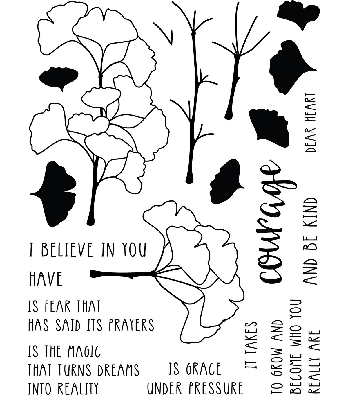Neat & Tangled Clear Stamps 6\u0022X8\u0022-Have Courage