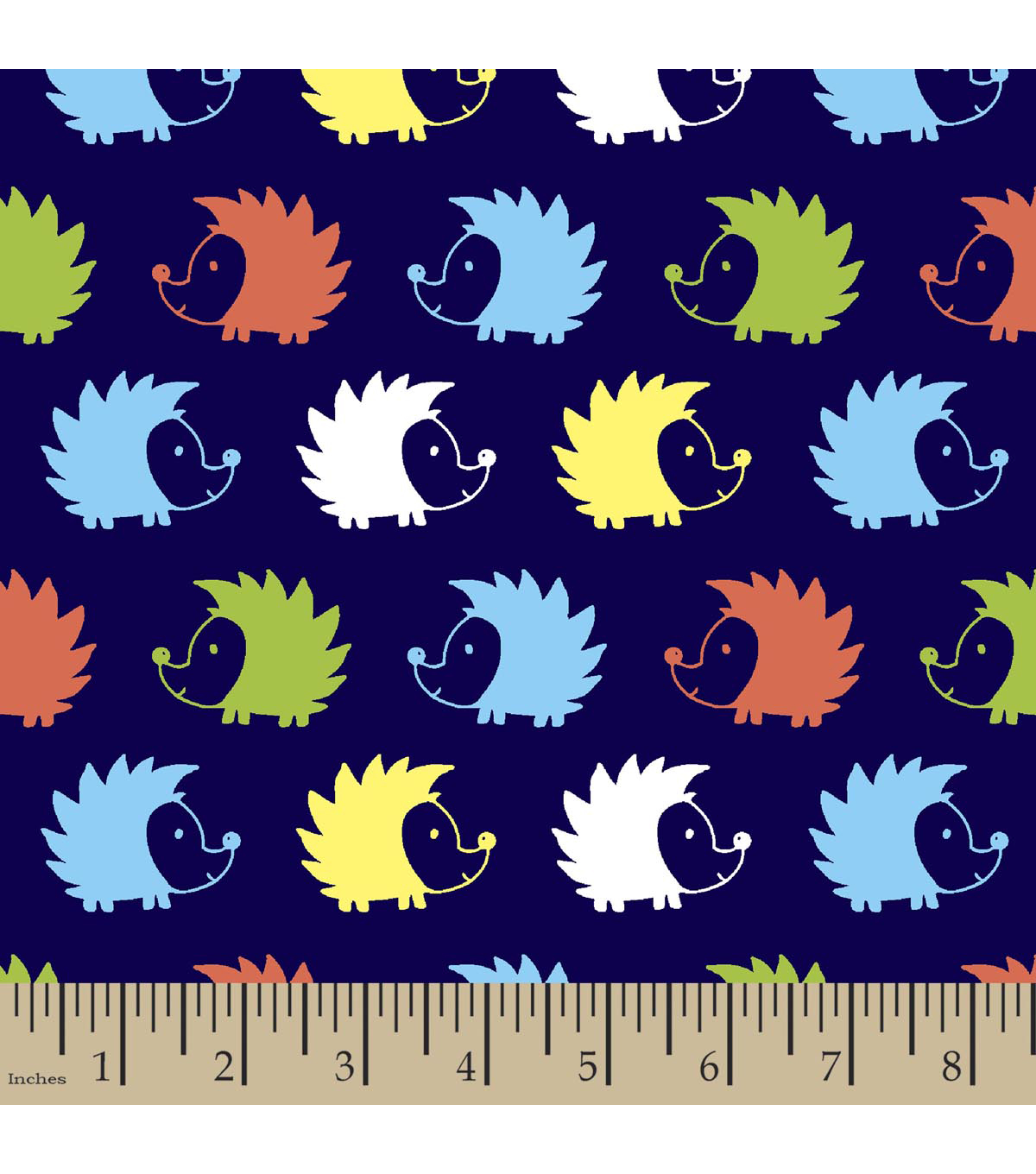 Snuggle Flannel Fabric 42\u0022-Hedgehog Blue