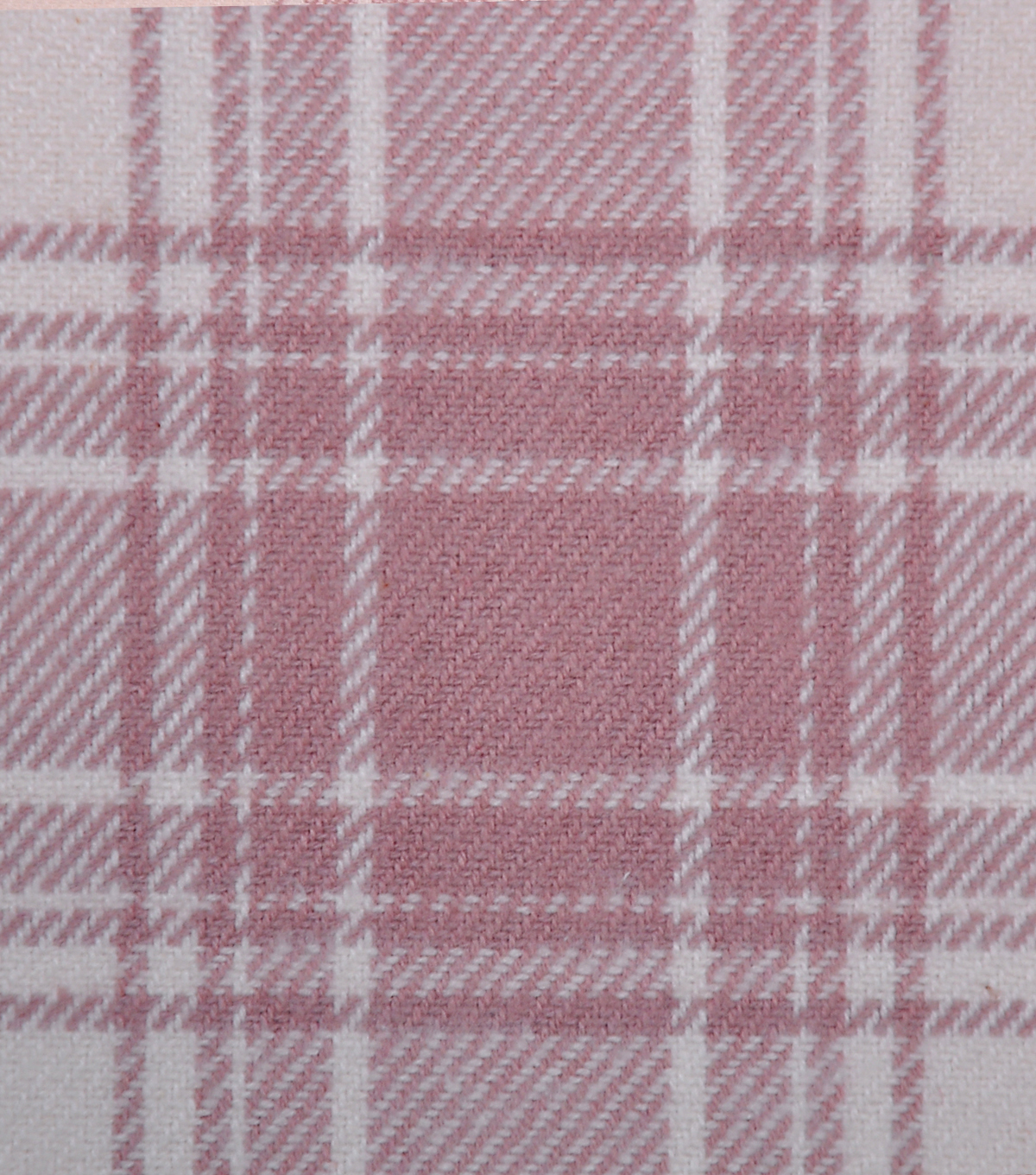 Plaiditudes Brushed Cotton Apparel Fabric 44\u0027\u0027-Cream & Pink Plaid