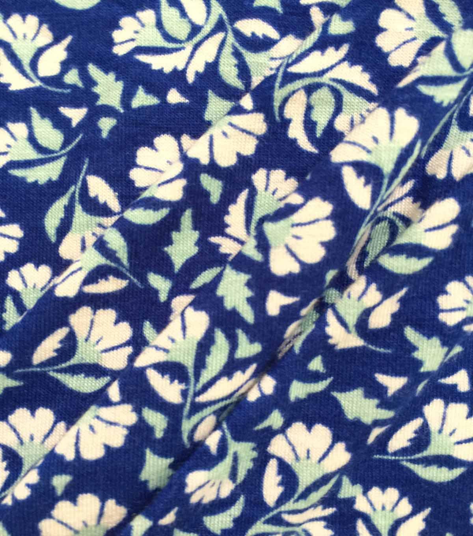 ab5c5339454 Apparel Knit Fabric 57\u0027\u0027-White & Sage Tossed Mini Floral on