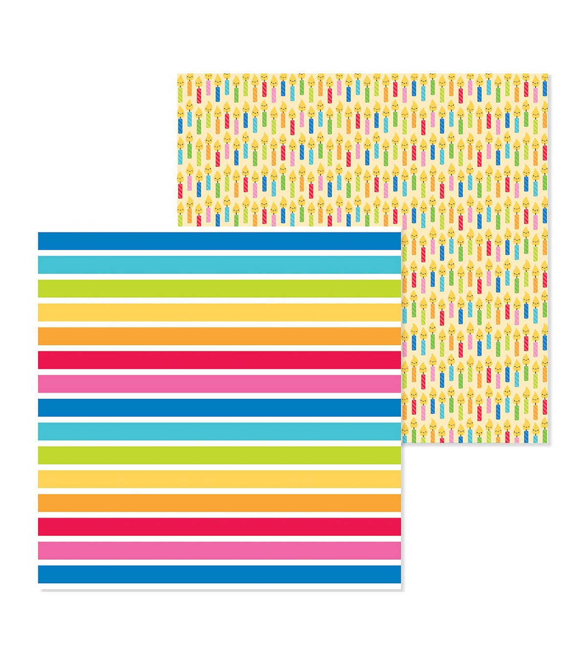 So Much Pun Double-Sided Cardstock 12\u0022X12\u0022-Just My Stripe