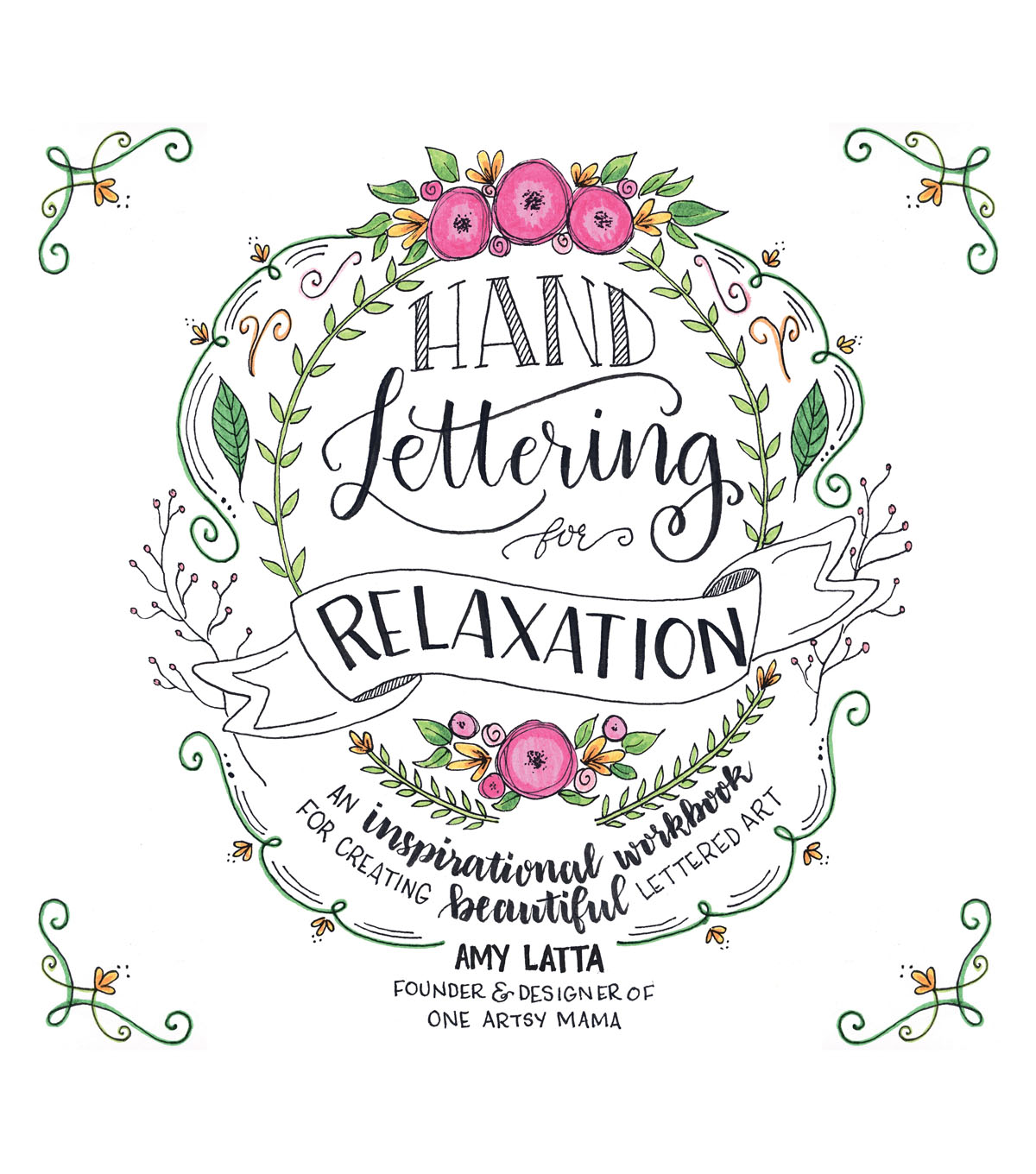 Hand Lettering for Relaxation Book