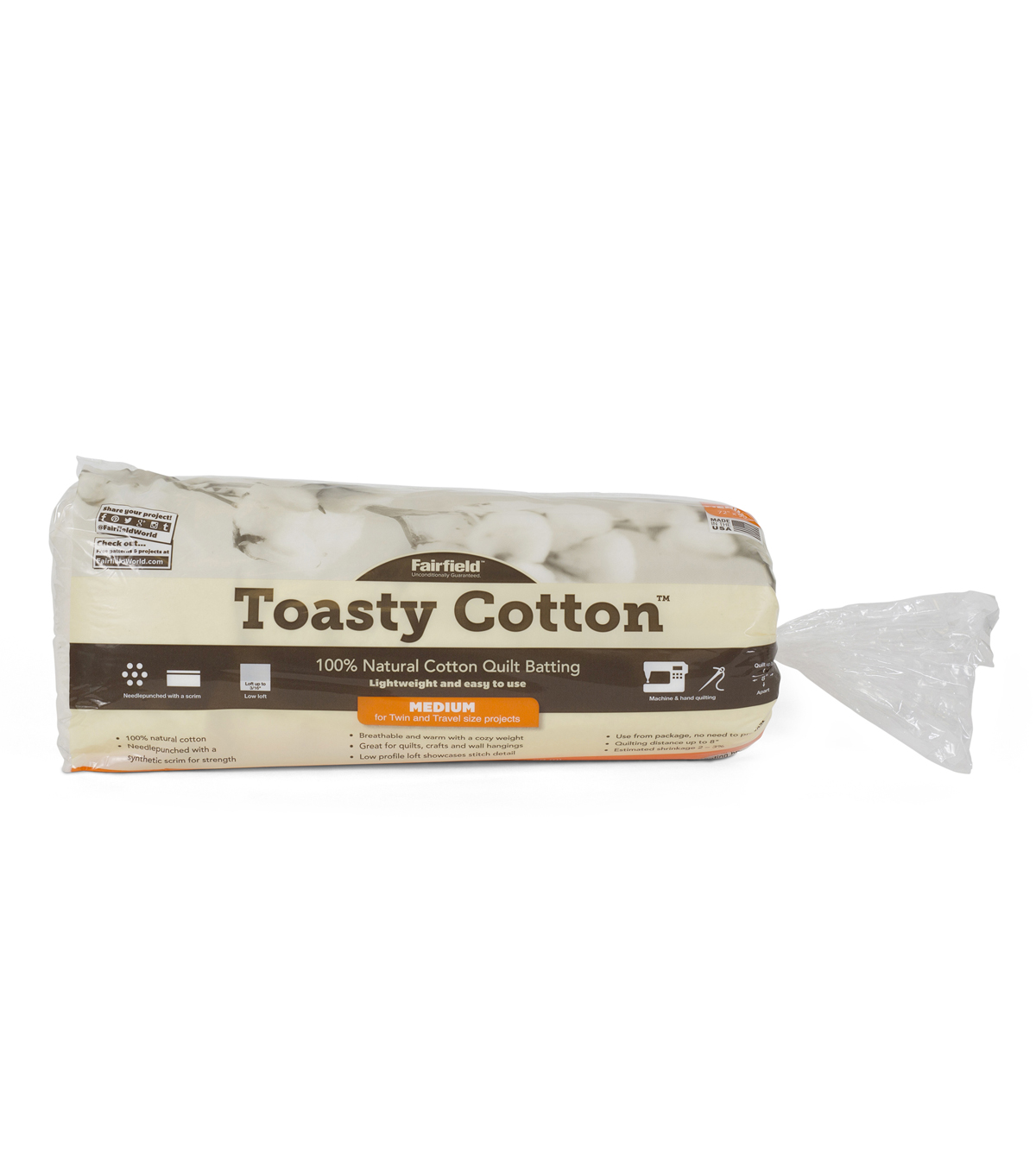 Toasty Cottom Batting 72 X 90