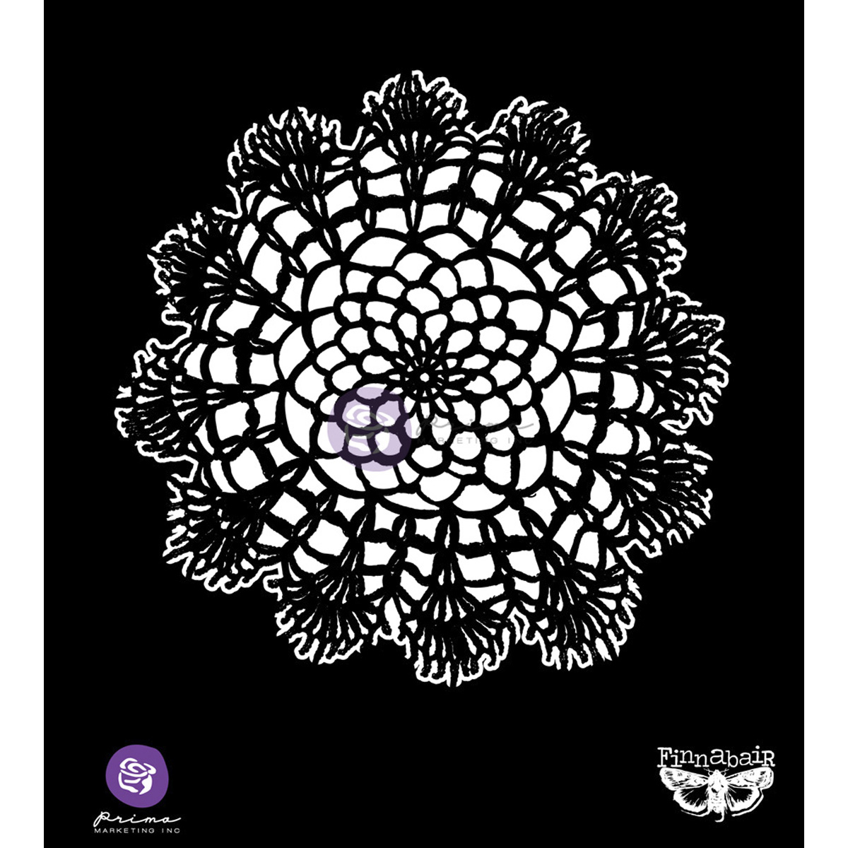 Prima Marketing Finnabair 6\u0027\u0027x6\u0027\u0027 Elementals Stencil-Lace Doily #1