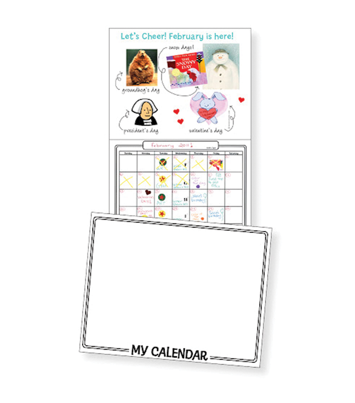 Make Your Own Calendar Book 11\u0022X8-1/2\u0022-White