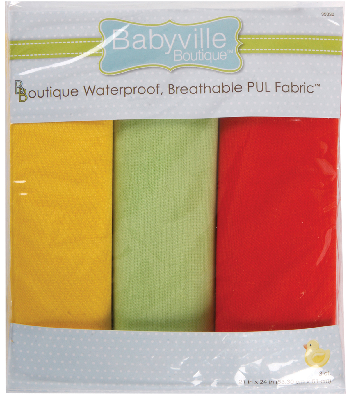 Babyville Boutique 21\u0022x24\u0022 Solid Waterproof Diaper Fabric Neutral