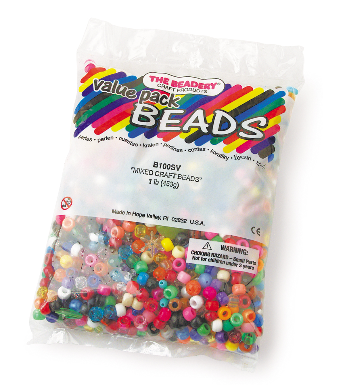 The Beadery Bead Value Pack 1lb-Mixed Craft