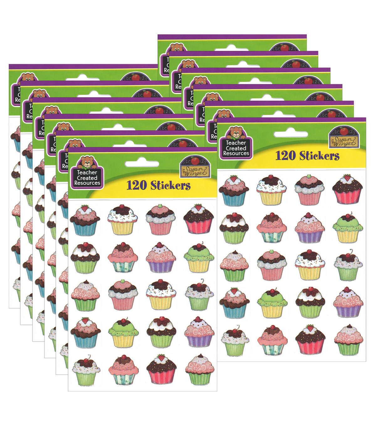 Teacher Created Resources Cupcakes Stickers 12 Packs