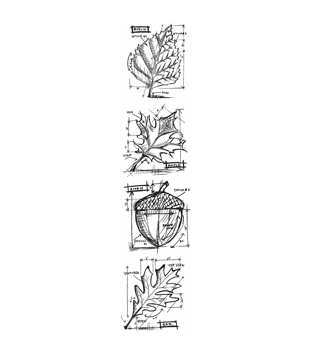 Stampers Anonymous Mini Autumn Blueprints Strip Cling Stamps
