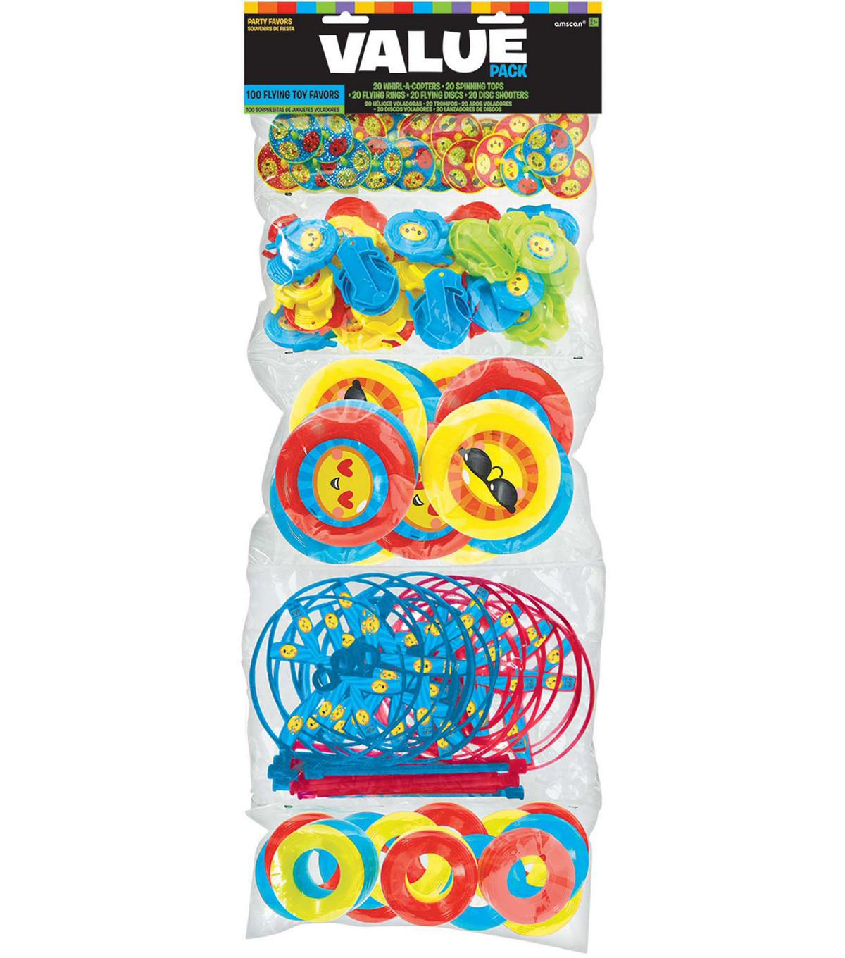 Party Favors 100/Pk-Flying Smiley