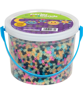 Perler Fused Bead Bucket Kit-Glow-In-The-Dark