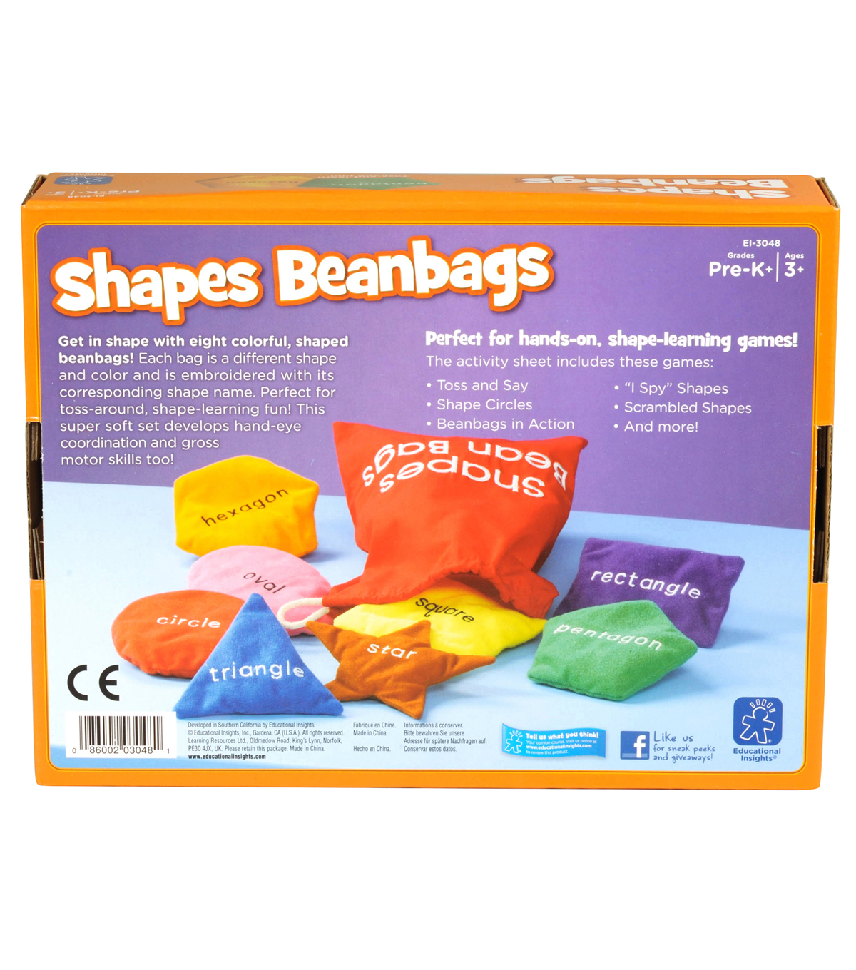 Educational Insights Shapes Bean Bags