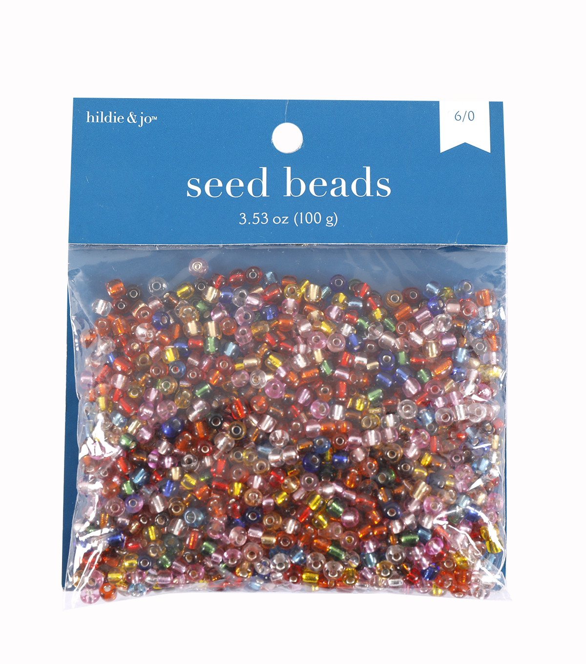 Darice Silver Lined 6/0 E-Beads-100gr/Multi