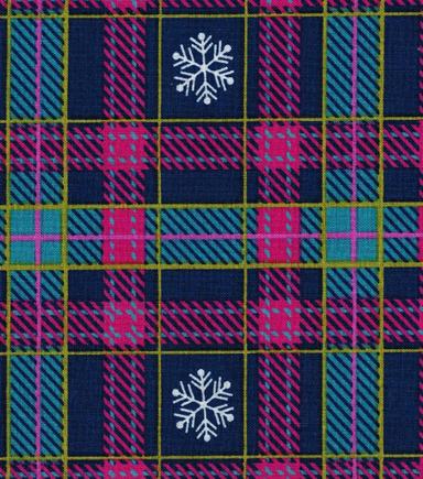 christmas cotton fabric snowy plaid - Christmas Plaid Fabric