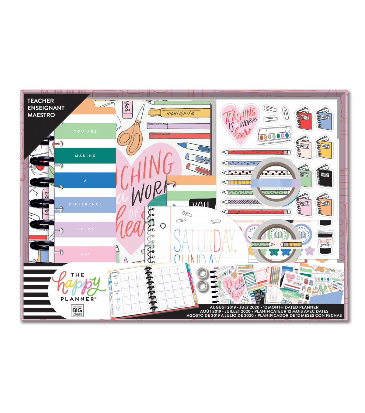 The Happy Planner 12 Month Dated Classic Planner Box-Teacher