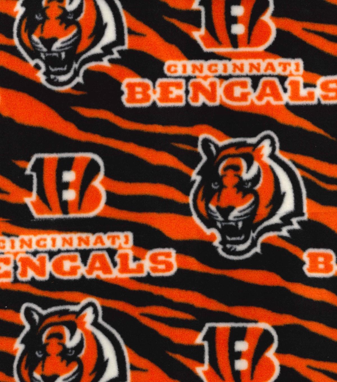 Cincinnati Bengals Fleece Fabric -Striped  3493711626