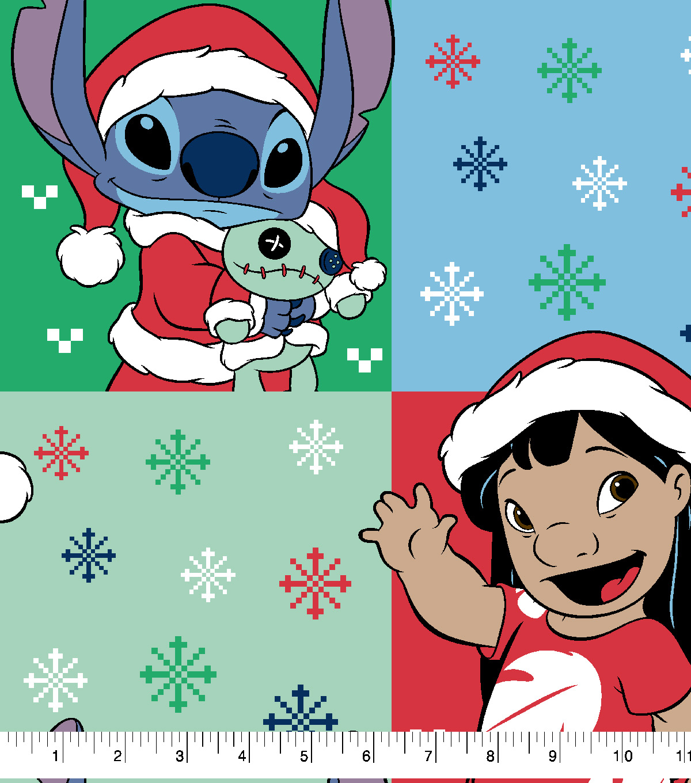 disney lilo stitch christmas fleece fabric ugly sweater - Christmas Fleece