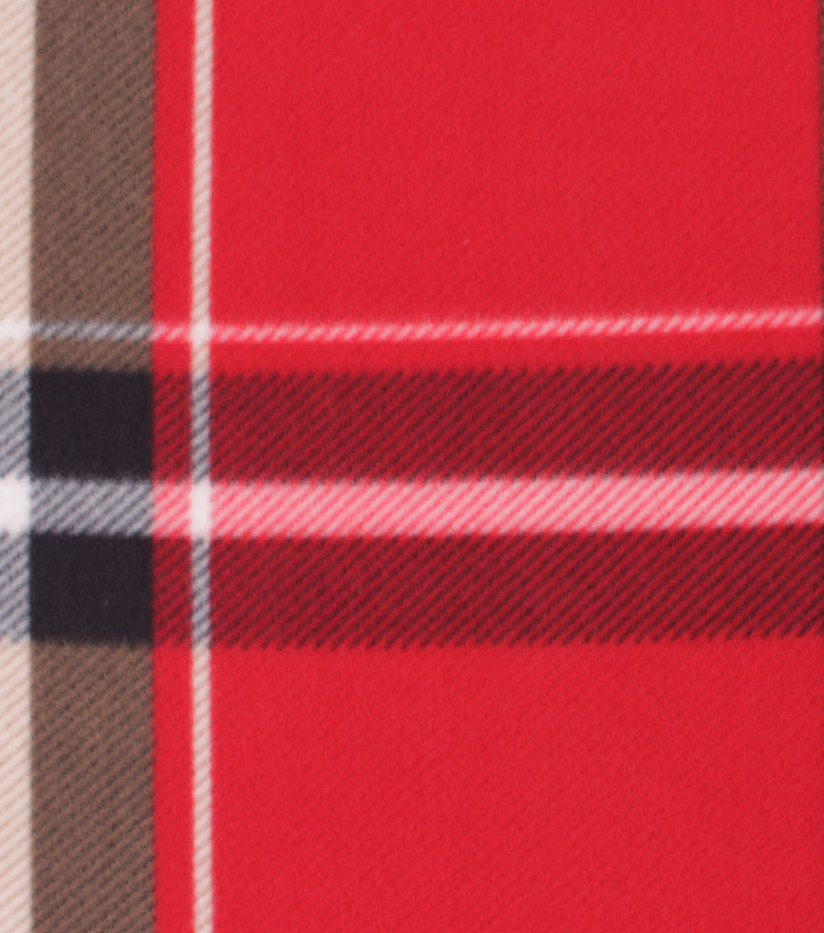 Blizzard Fleece Fabric-Bryce Red & Brown Plaid