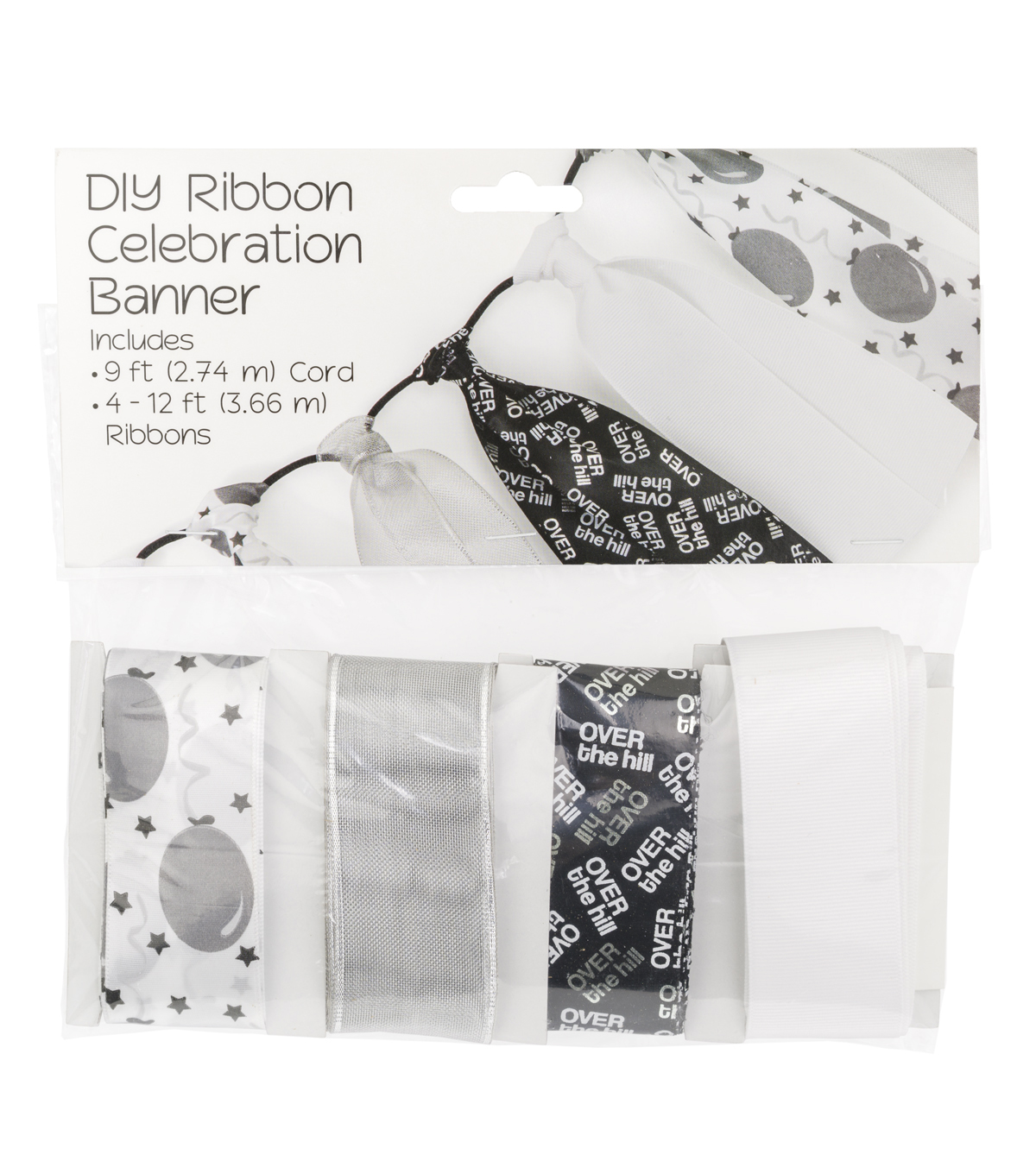 Offray DIY Ribbon Celebration Banner Kit-Over The Hill