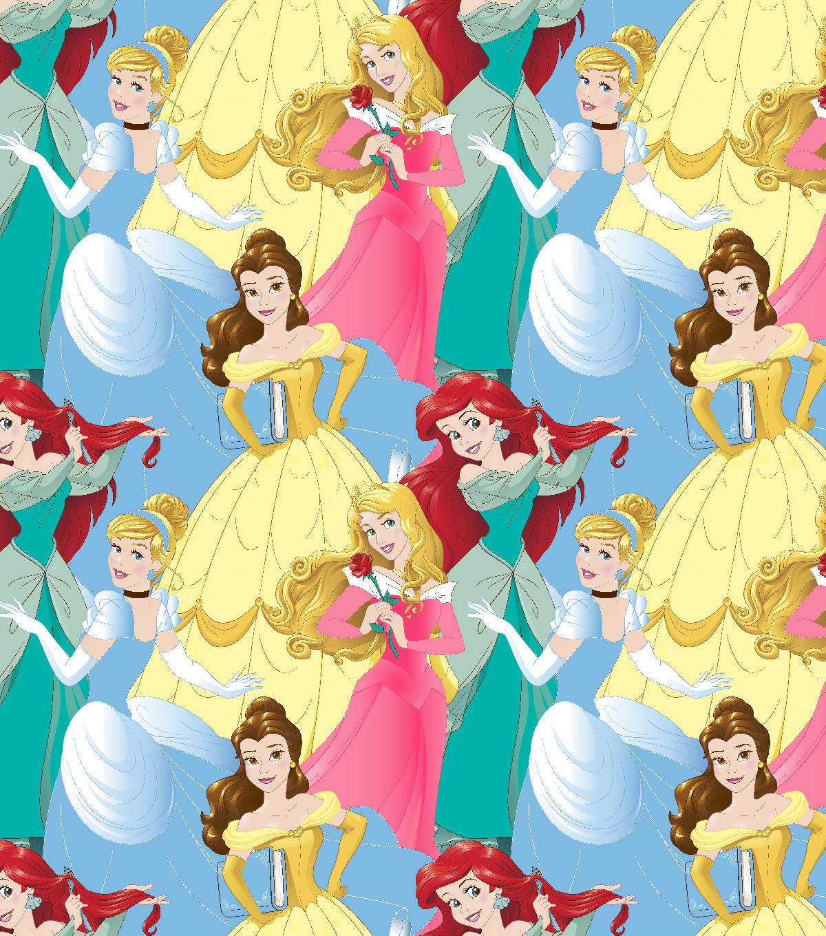 Disney Princesses Fleece Fabric 59\u0022-Packed