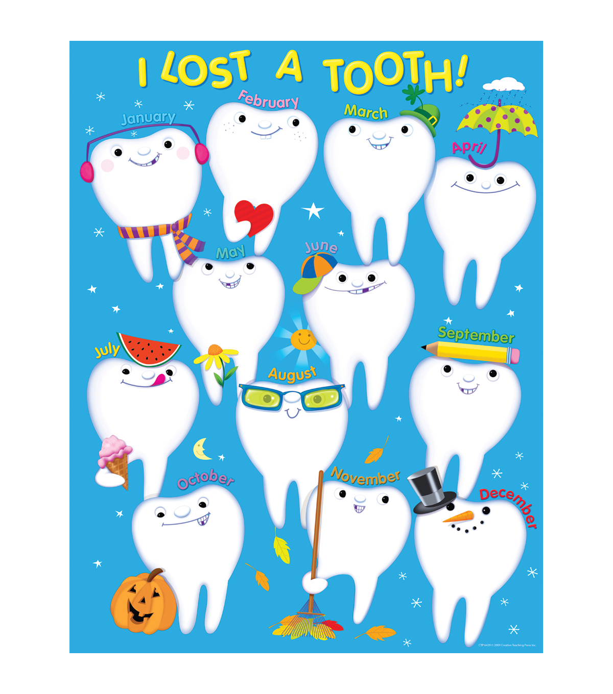 Creative Teaching Press I Lost a Tooth Chart 6pk