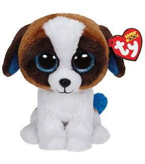 TY Beanie Boo Duke Brown White Dog  2a337dc56