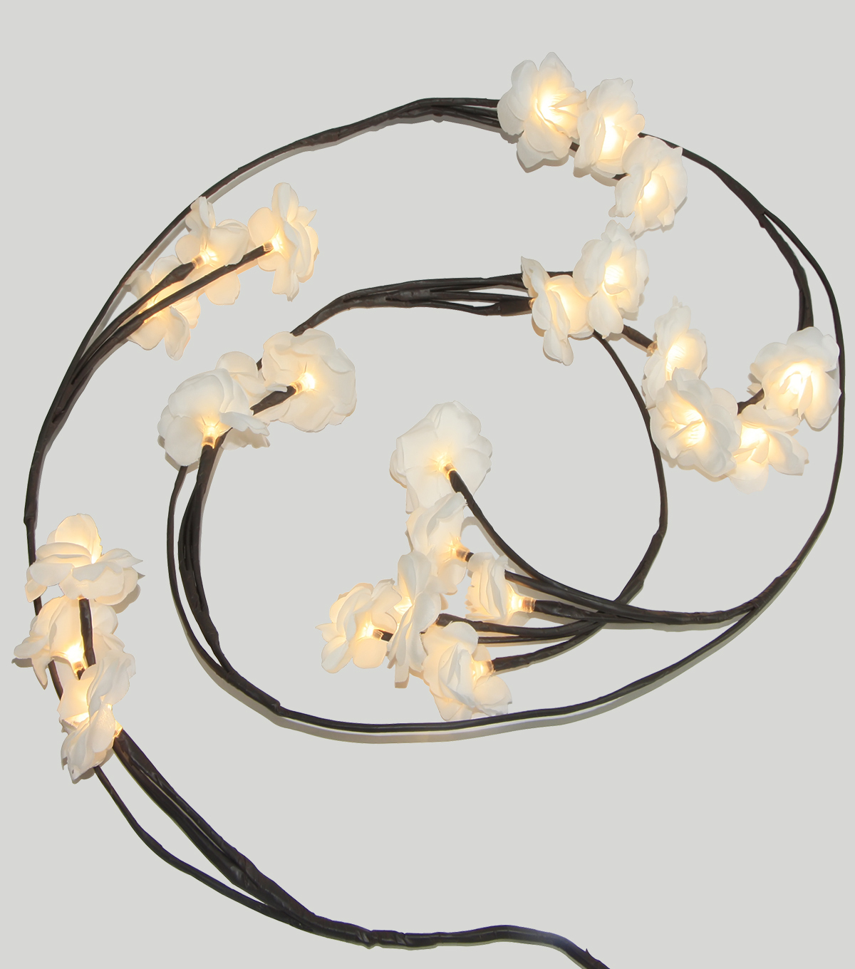 Save The Date 24 Count Rose Garland Lights-White