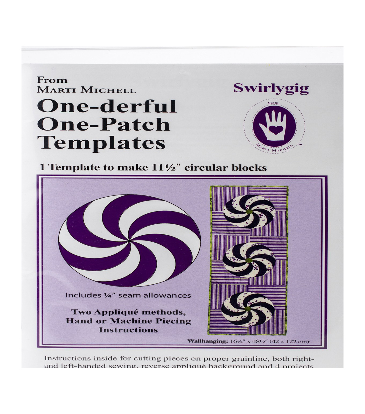 Marti Michell One-patch Template-Swirlygig