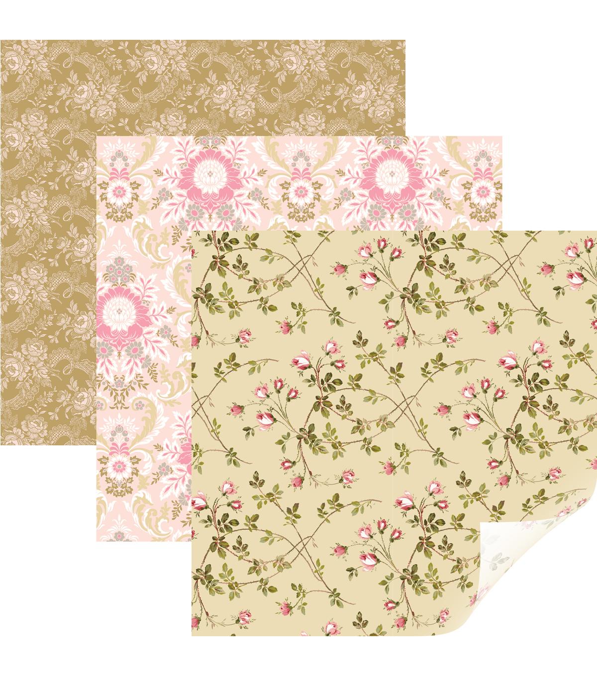 Cricut Anna Griffin 6 pk Removable Matte Patterned Vinyl Samplers-Juliet