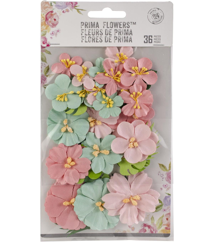 Havana Mulberry Paper Flowers Leaves 36pk Camila Joann