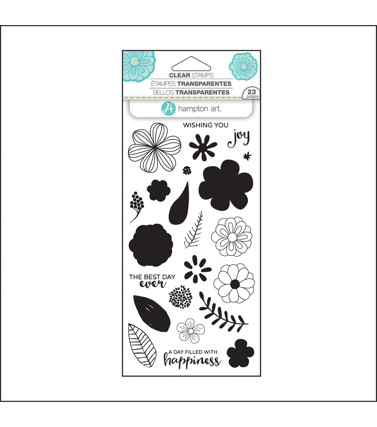 Hampton Art Layering Clear Stamp-Flower Joy