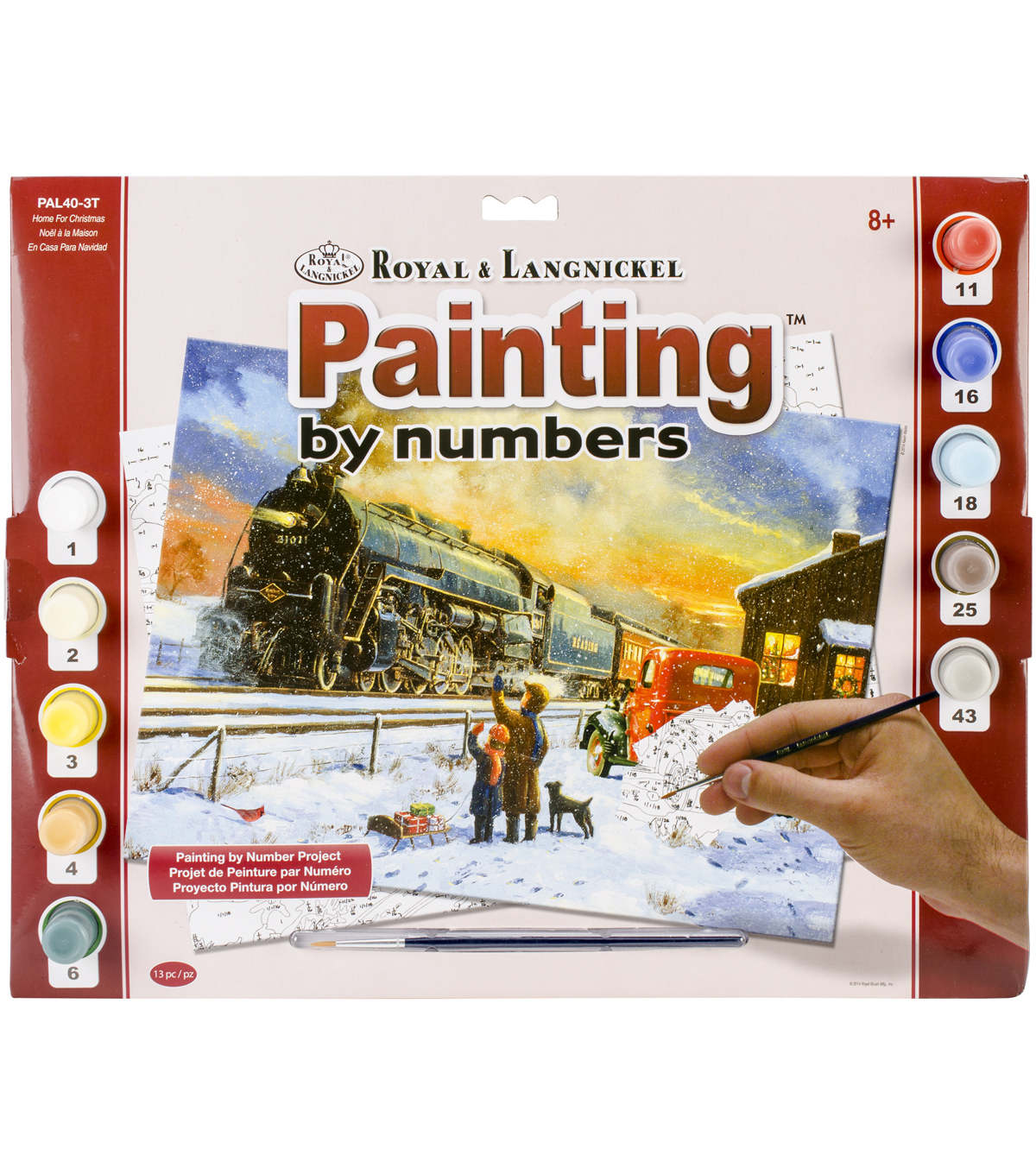 Royal Langnickel Home For Christmas Paint By Number Kit