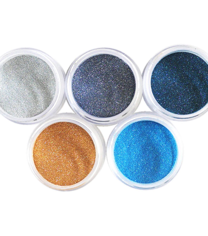 Elizabeth Craft Designs Silk Microfine Glitter Palette 5 Pkg Beach