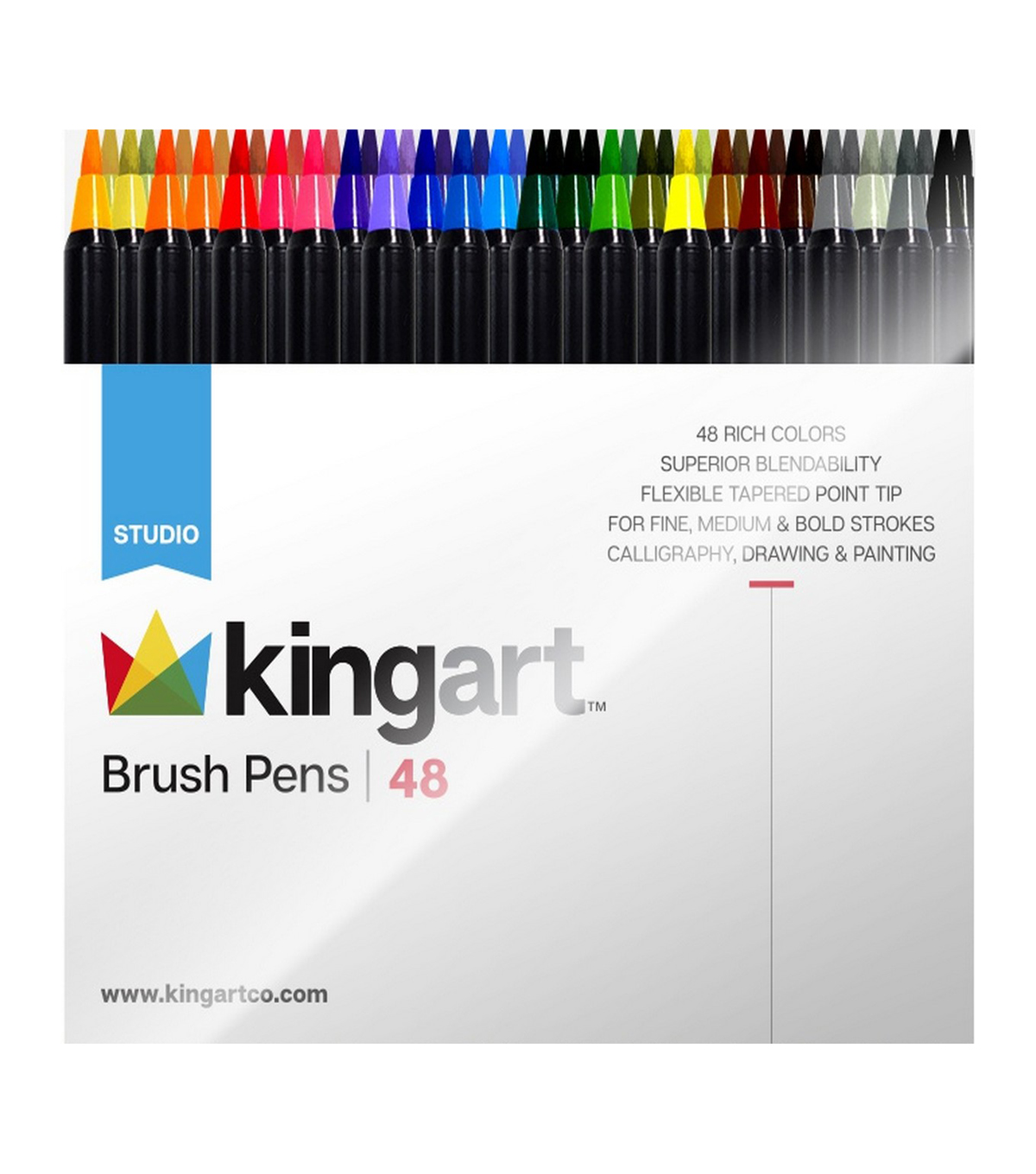 KINGART 48 pk Brush Pens