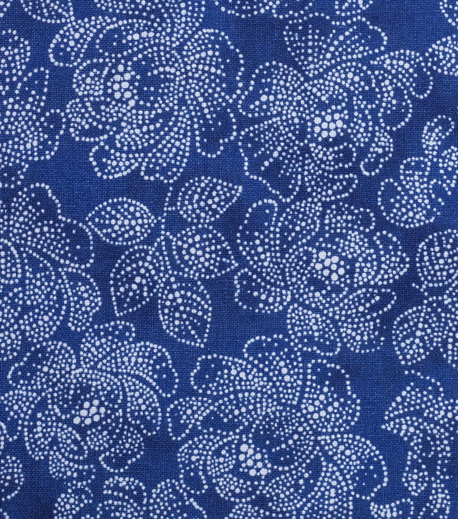 Keepsake Calico Cotton Fabric -Yellow Blue Dotted Floral