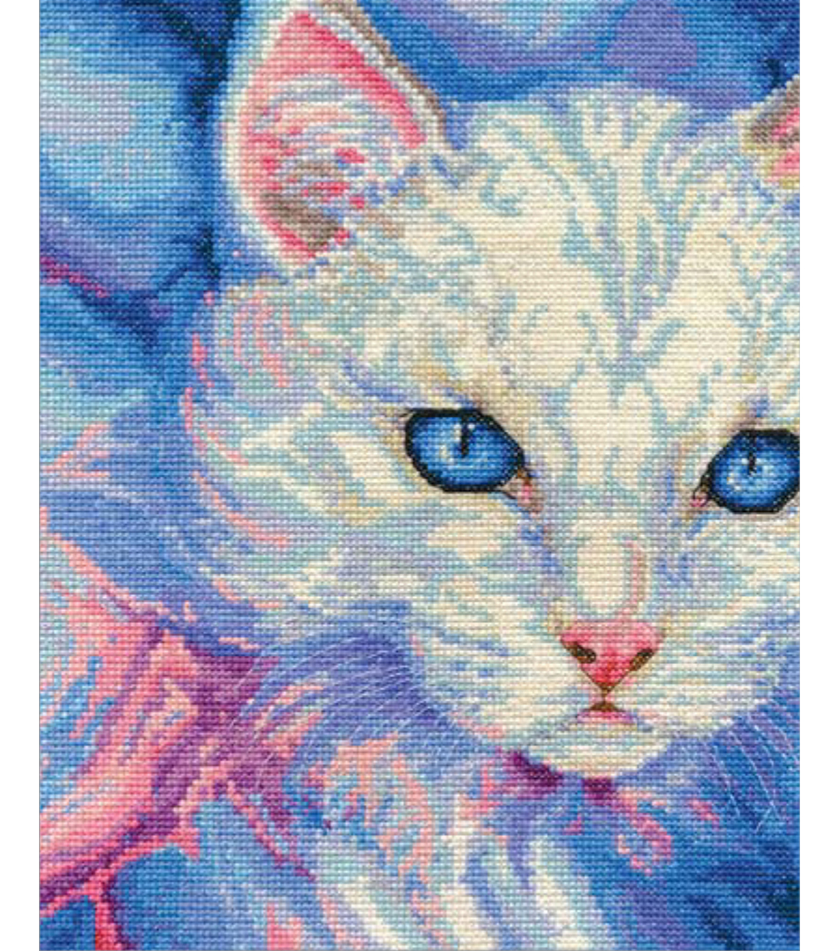 DMC Jayne Netley Mayhew 8\u0027\u0027x10\u0027\u0027 Counted Cross Stitch Kit-Turkish Angora