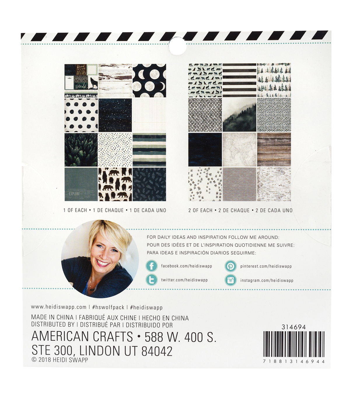 Heidi Swapp Single Sided Paper Pad 6\u0022x 6\u0022