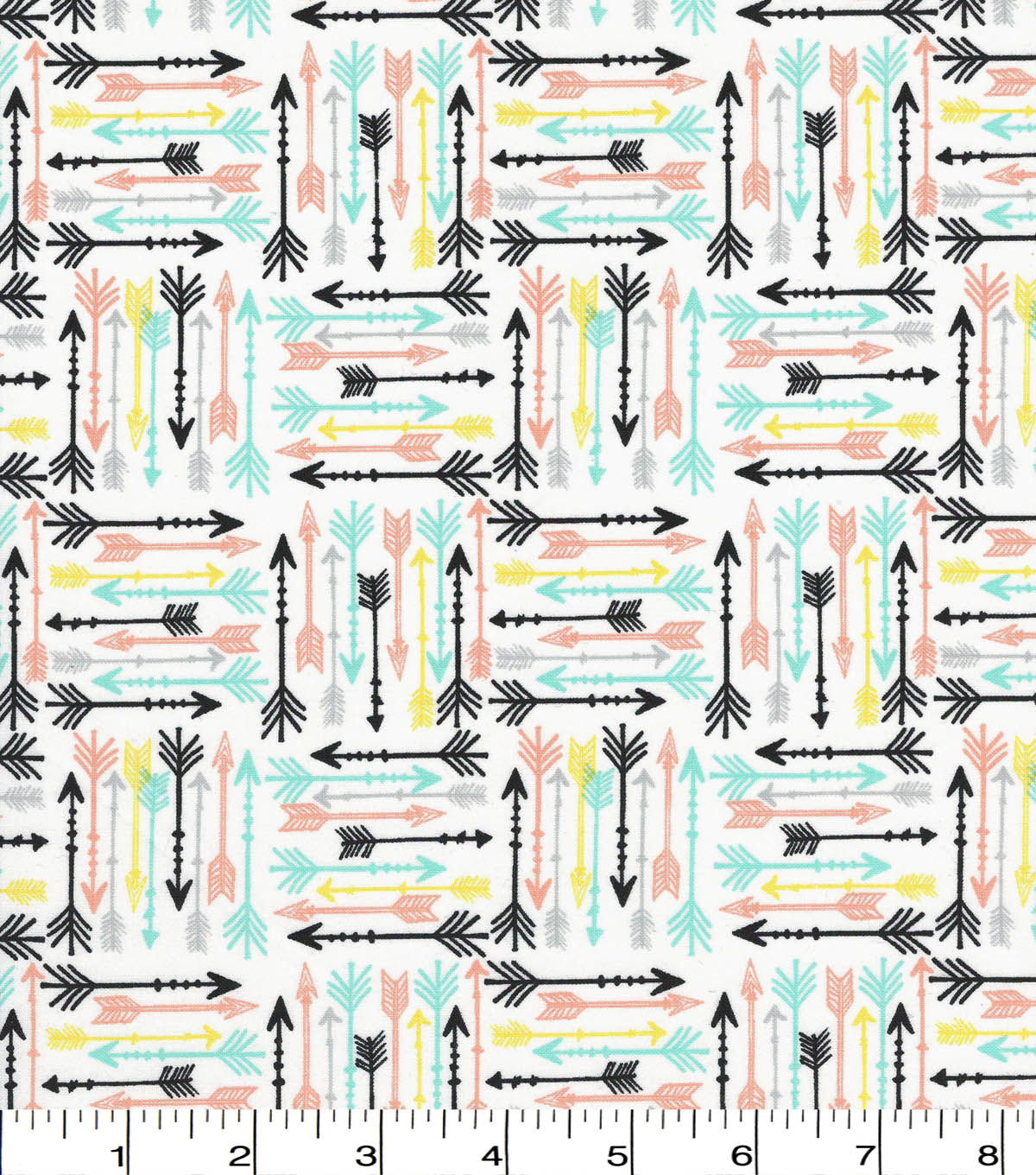 Quilter\u0027s Showcase Cotton Fabric -Pastel Arrows on White